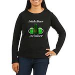 Irish Beer Drinke Women's Long Sleeve Dark T-Shirt