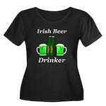 Irish Be Women's Plus Size Scoop Neck Dark T-Shirt