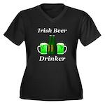 Irish Beer D Women's Plus Size V-Neck Dark T-Shirt
