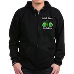 Irish Beer Drinker Zip Hoodie (dark)