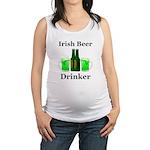 Irish Beer Drinker Maternity Tank Top