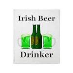 Irish Beer Drinker Throw Blanket