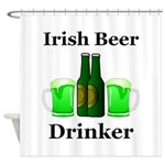 Irish Beer Drinker Shower Curtain