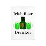 Irish Beer Drinker 5'x7'Area Rug