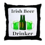 Irish Beer Drinker Throw Pillow