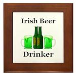 Irish Beer Drinker Framed Tile