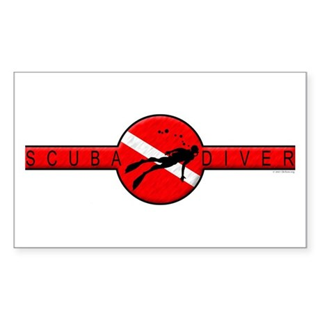 SCUBA Band Rectangle Sticker