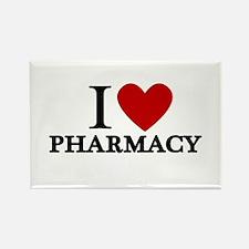 I Love Pharmacy Rectangle Magnet