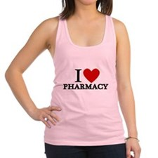 I Love Pharmacy Racerback Tank Top