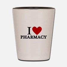 I Love Pharmacy Shot Glass