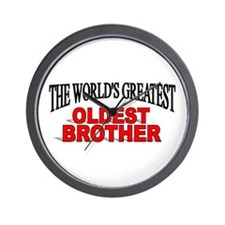 """""""The World's Greatest Oldest Brother"""" Wall Clock"""