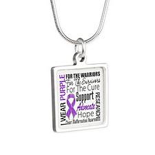 Chiari Malformation Silver Square Necklace