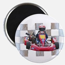 Kart on Checkered Flag Magnets