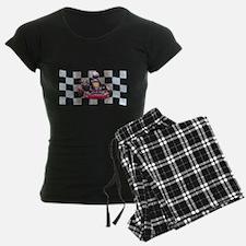 Kart on Checkered Flag Pajamas