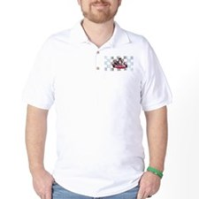 Kart on Checkered Flag T-Shirt