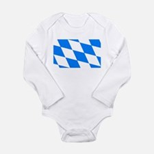 Bavarian flag Long Sleeve Infant Bodysuit