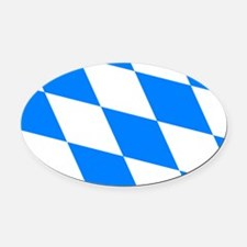Bavarian flag Oval Car Magnet