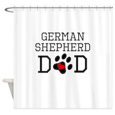 German Shepherd Dad Shower Curtain
