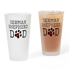 German Shepherd Dad Drinking Glass