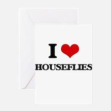 houseflies Greeting Cards