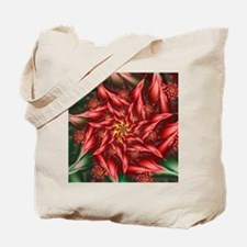 Fractal Christmas Pointsettia Tote Bag