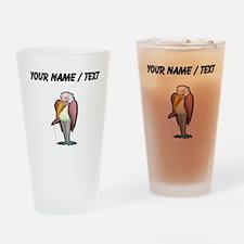 Custom Grandpa Bird Drinking Glass