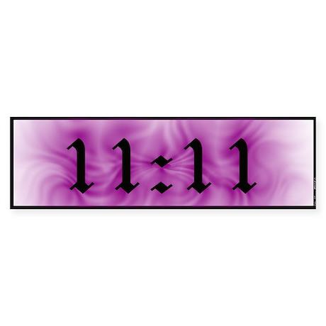 11:11 Bumper Sticker White Coronus