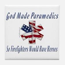 God Made Paramedics Tile Coaster