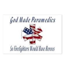 God Made Paramedics Postcards (Package of 8)