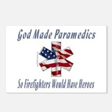 God Made Paramedics Postcards (Package of 8)