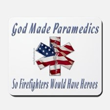 God Made Paramedics Mousepad