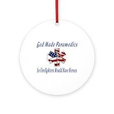 God Made Paramedics Ornament (Round)