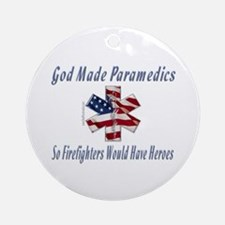 God Made Paramedics Ornament (Round)