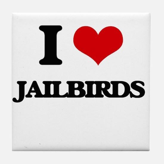 jailbirds Tile Coaster