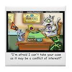 Greatest Feline Lawyer: Fluffy Cohen, Tile Coaster