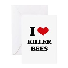 killer bees Greeting Cards