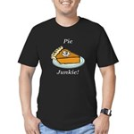Pie Junkie Men's Fitted T-Shirt (dark)