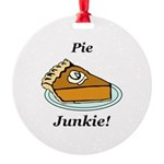 Pie Junkie Round Ornament