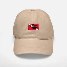 Scuba Diving Shark Flag Baseball Baseball Cap