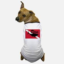 Scuba Diving Shark Flag Dog T-Shirt