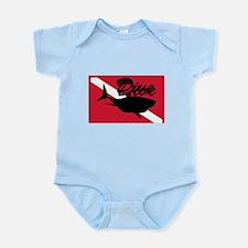 Scuba Diving Shark Flag Infant Bodysuit