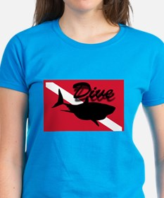 Scuba Diving Shark Flag Tee