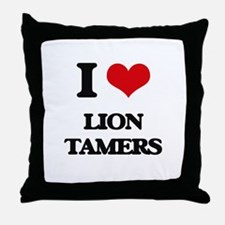 lion tamers Throw Pillow