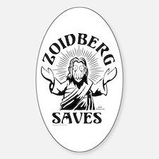 Zoidberg Saves Sticker (Oval)