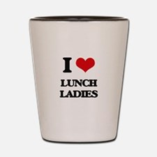lunch ladies Shot Glass
