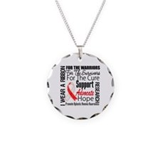 Aplastic Anemia Necklace Circle Charm