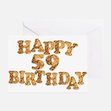 59th birthday card for a cookie lover Greeting Car