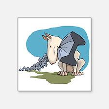 Bull Terrier Chewing Steel Sticker