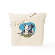 Bull Terrier Chewing Steel Tote Bag