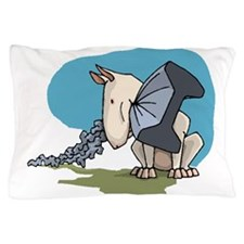 Bull Terrier Chewing Steel Pillow Case